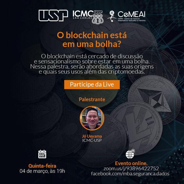 A palestra será transmitida via plataforma Zoom, pelo link zoom.us/j/93896422752, e também pelo Facebook do MBA em Segurança de Dados da USP - Crédito: Divulgação