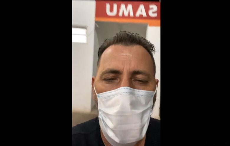 Marcos Palermo fez live alertando a população sobre a situação da saúde na cidade - Crédito: reprodução