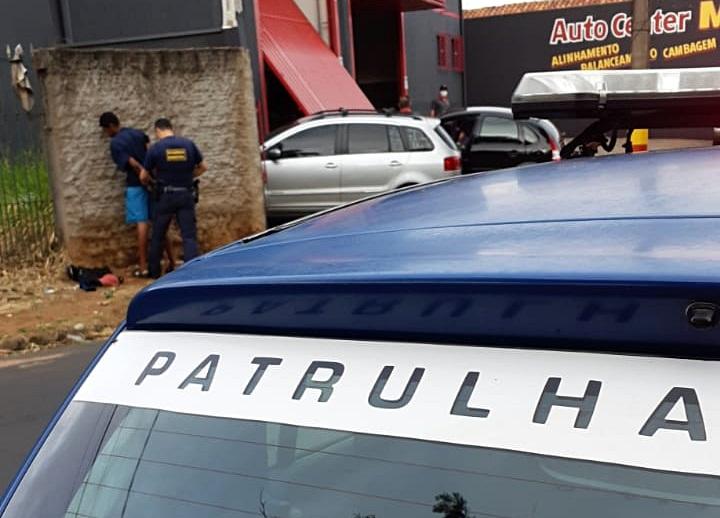 GM prende suspeito de furto - Crédito: Colaborador SCA