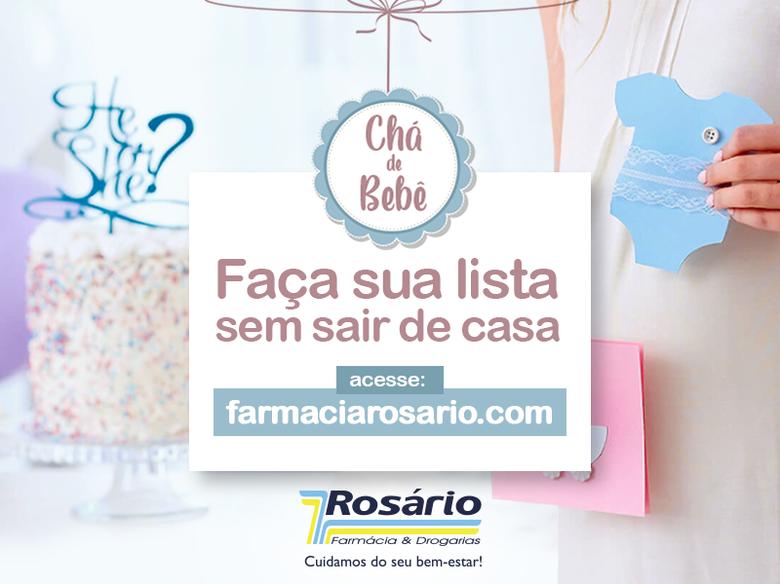 Farmácia Rosário inova e lança nova função em seu site que permite que mamães criem sua lista de Chá de Bebê e recebam os produtos sem sair de casa -