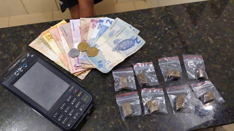 Traficante usava máquina de cartão para passar drogas no débito ou crédito - Crédito: Maycon Maximino