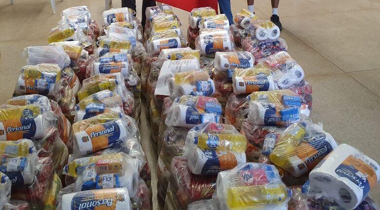 Campanha em São Carlos arrecadou mais de uma tonelada de alimentos - Crédito: Divulgação