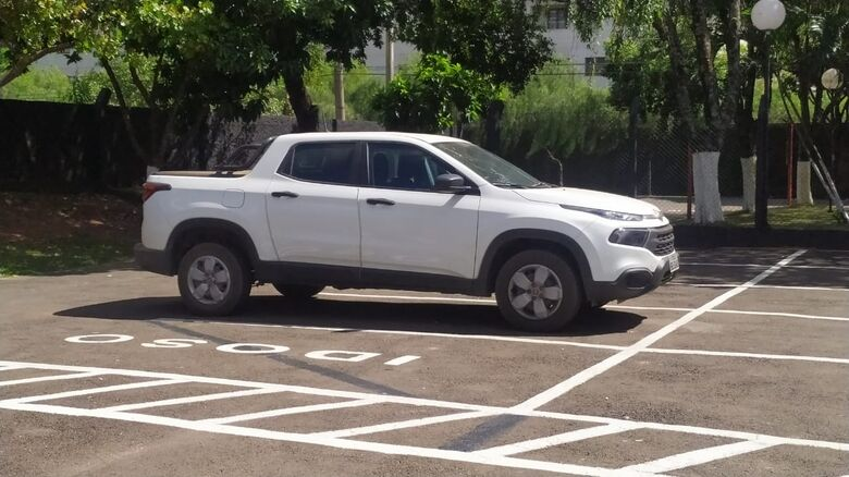 Fiat Toro roubada foi recuperada pela PM - Crédito: Maycon Maximino