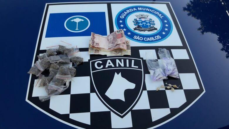 Canil da GM prende homem por tráfico no Santa Felícia - Crédito: Maycon Maximino