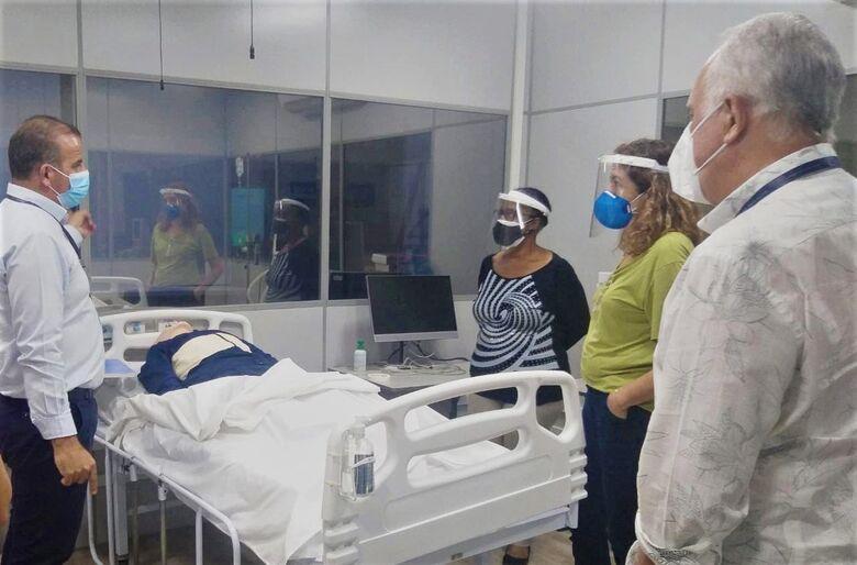 Supervisoras da Diretoria de Ensino de São Carlos em visita ao Centro de Simulação Realística do IEP - Crédito: Divulgação