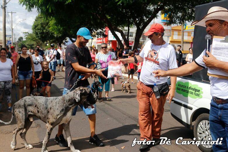 Antes da pandemia, a CÃOminhada era realizada na Rua Larga - Crédito: Bê Cavichioli