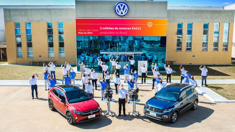 VW São Carlos alcança 2 milhões de motores EA211 produzidos - Crédito: Divulgação/Pedro Danthas