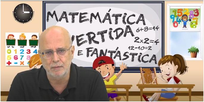 Professor Vanderlei Salvador Bagnato no momento das gravações dos vídeos educativos e divertidos que ensinam matemática de uma forma dinâmica e criativa - Crédito: divulgação