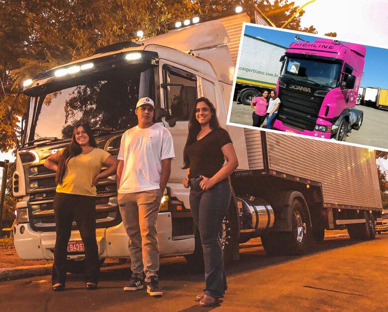 Mamães caminhoneiras de São Carlos: exemplos de superação e garra. Dirigem brutos, mas com muito amor e carinho - Crédito: arquivo pessoal
