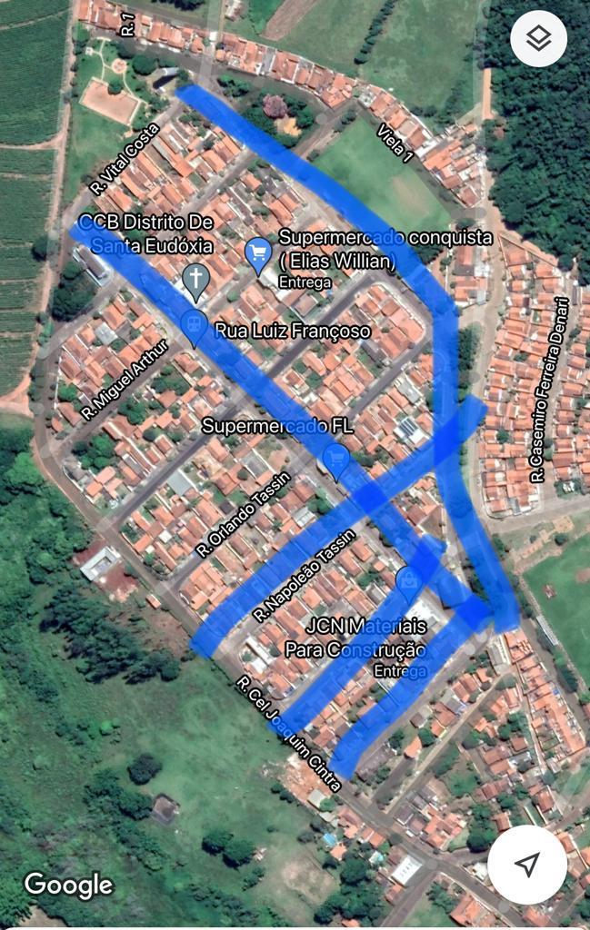 Santa Eudóxia: Recapeamento de cinco ruas e a iluminação da rua do Cemitério são conquistas do mandato de Roselei - Crédito: Divulgação