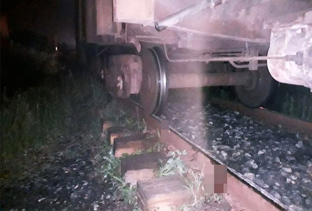 Trem atropela e mata mulher - Crédito: divulgação