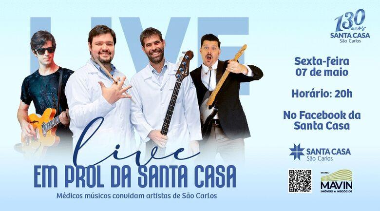 Médicos músicos convidam artistas de São Carlos para live em prol da Santa Casa -