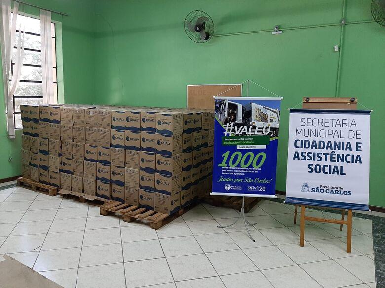Empresas fazem doação de cestas básicas para Secretaria de Cidadania e Assistência Social - Crédito: Divulgação
