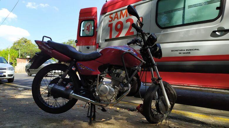 Acidente no Aracy deixou duas vítimas: uma delas com fratura exposta - Crédito: Maycon Maximino