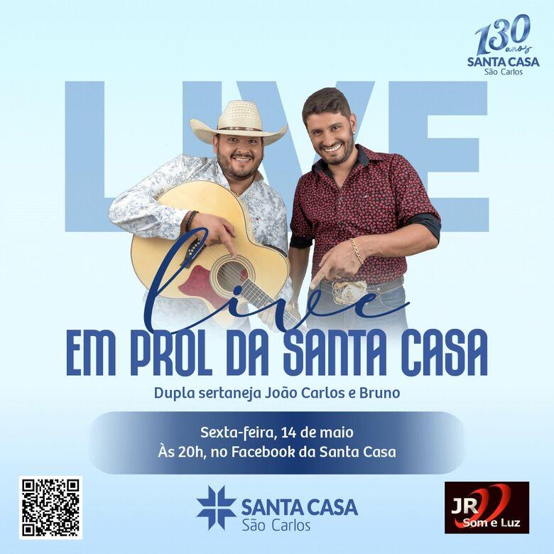 João Carlos e Bruno participam de live em prol da Santa Casa -