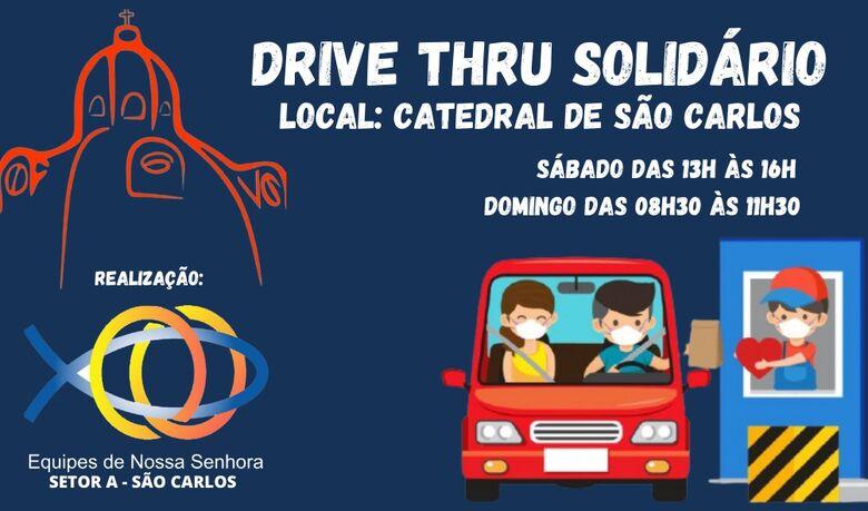Equipes de Nossa Senhora em São Carlos se unem para arrecadar alimentos -