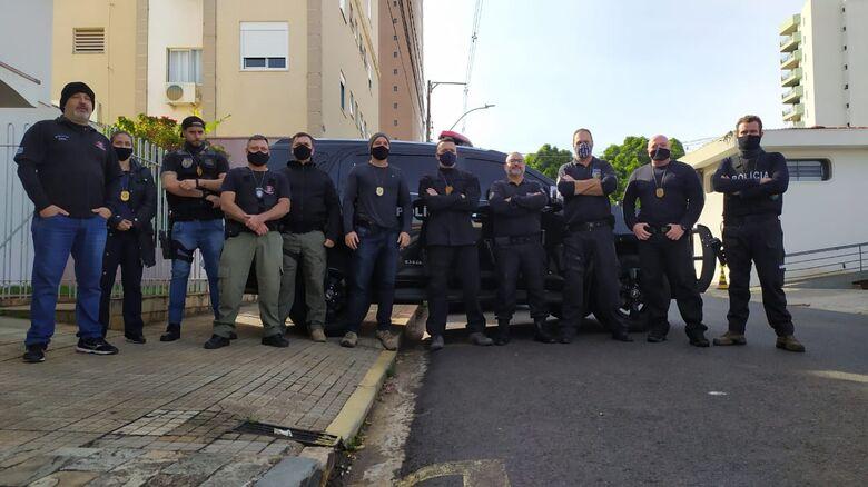 Membros da Polícia Civil que realizaram as prisões - Crédito: Maycon Maximino