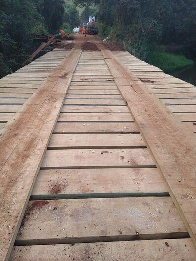 Ponte em Santa Eudóxia já está liberada - Crédito: Divulgação