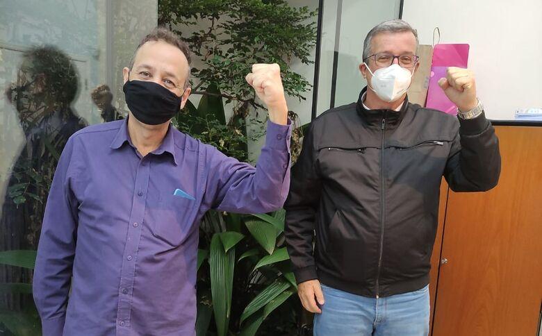 Nino ao lado do ex-presidente do PSB, Chico Loco - Crédito: Divulgação