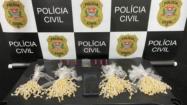 A droga que foi apreendida pelos policiais da Dise após operação no CDHU - Crédito: Divulgação