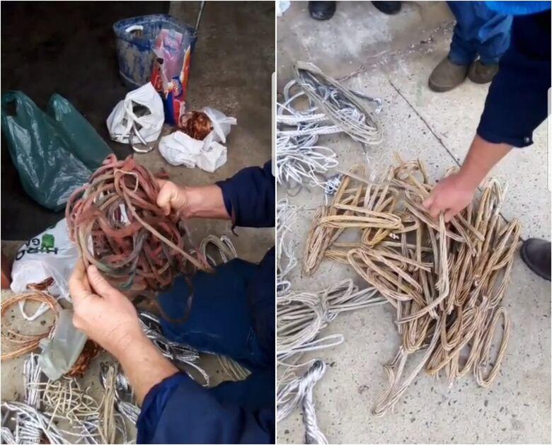 Polícia Civil e GM prendem comerciante acusado de comprar fios e cabos furtados em Ibaté - Crédito: divulgação
