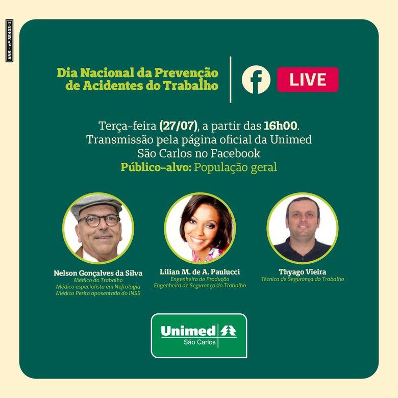 Unimed São Carlos realiza live sobre Segurança do Trabalho - Crédito: Divulgação