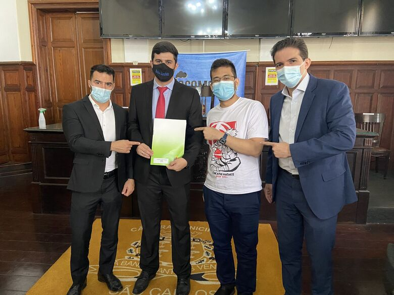 Vereador Bruno Zancheta solicita recursos a Deputados Arthur do Val e Kim Kataguiri em visita à São Carlos -
