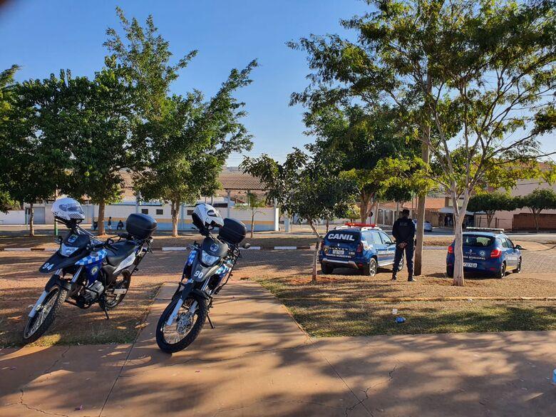 Guardas municipais durante a ação de combate à criminalidade - Crédito: Divulgação