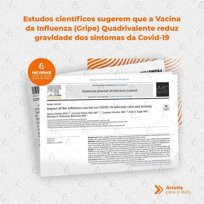 Estudos recentes demonstram que vacina quadrivalente contra a gripe estimula células de proteção contra Covid-19 -
