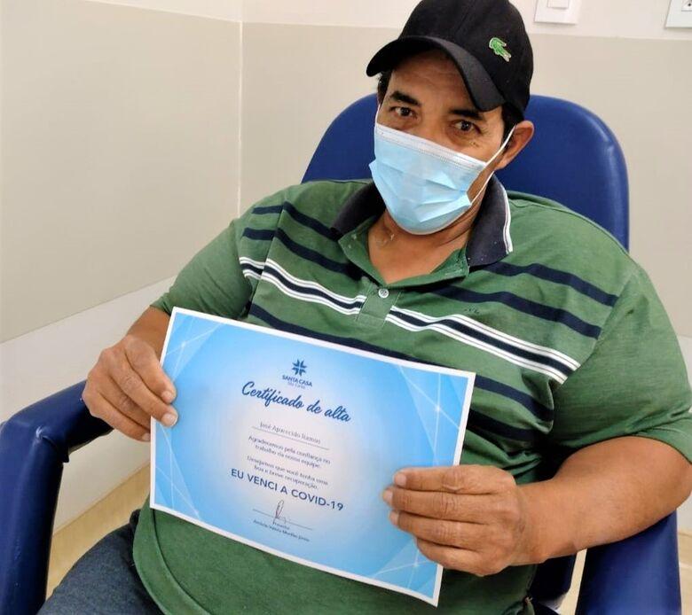 José Ramos, 46 anos, ficou 11 dias internado na UTI Covid da Santa Casa - Crédito: Assessoria Santa Casa