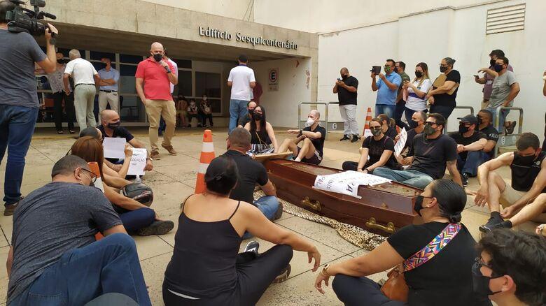 Guardas municipais realizam novo protesto em São Carlos - Crédito: Maycon Maximino