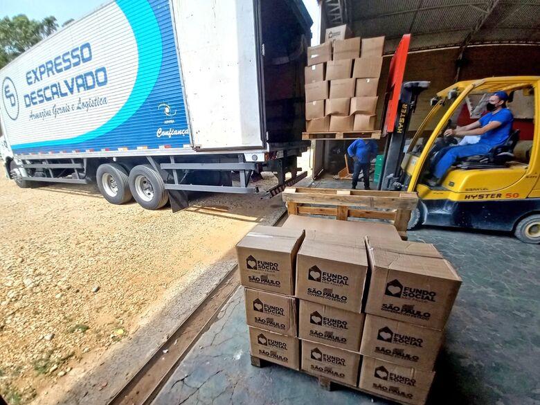 Fundo Social do Estado envia mais 852 cestas básicas para Prefeitura de Ibaté - Crédito: divulgação