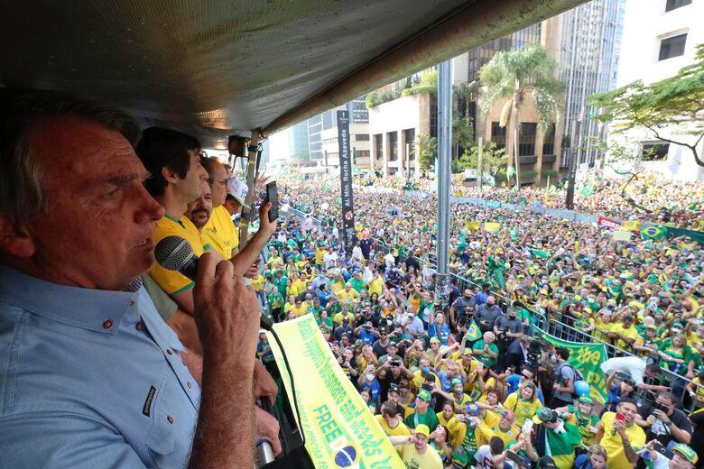 Presidente discursa em manifestação de apoiadores em SP - Crédito: Foto: Isac Nóbrega/PR