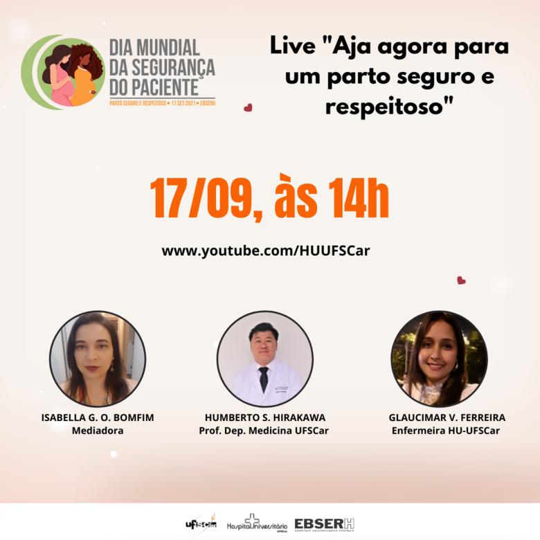 HU promove live sobre assistência segura no cuidado materno e neonatal - Crédito: Divulgação