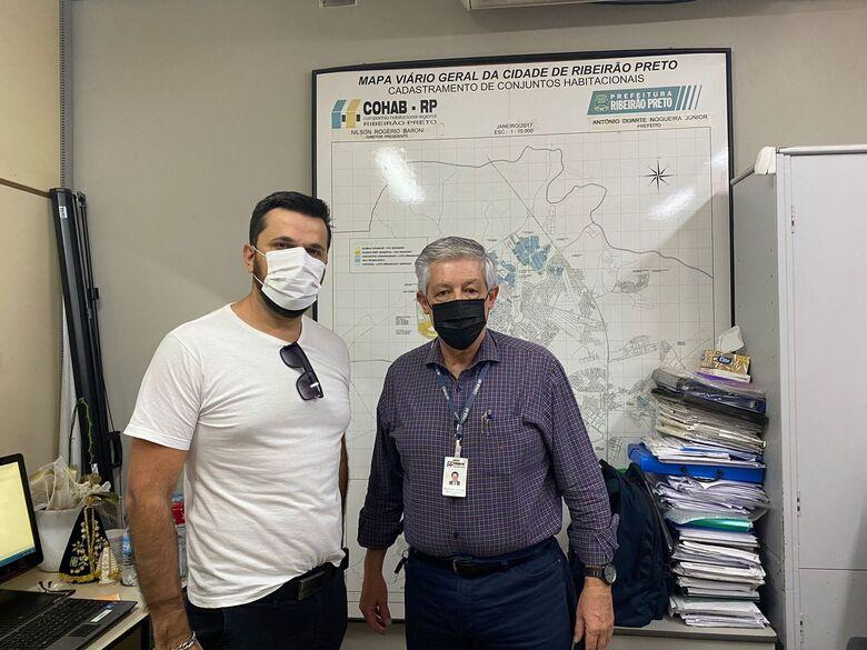 Rodson visita COHAB de Ribeirão Preto - Crédito: divulgação