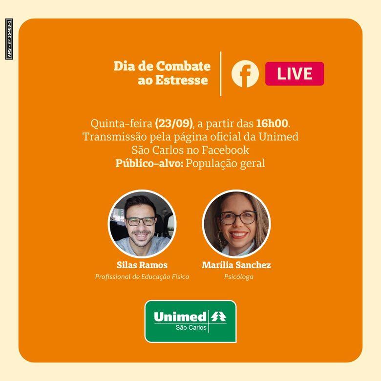 Unimed São Carlos realiza live sobre o Dia de Combate ao Estresse -