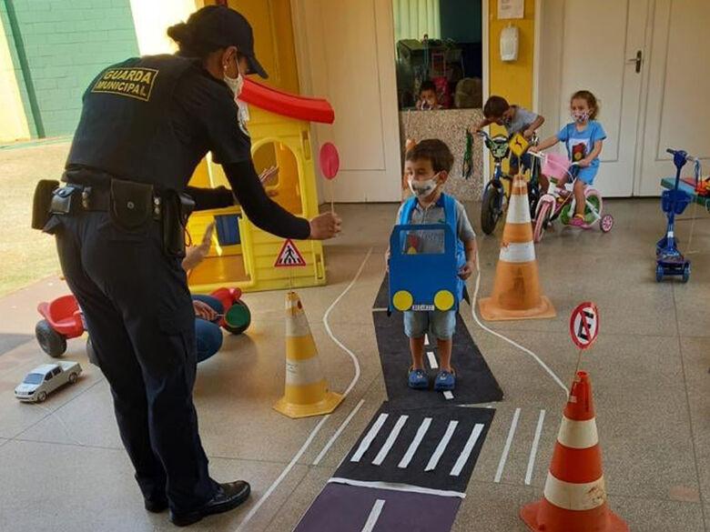 """Escola Municipal """"Bruna Esposito"""" de Ibaté realizou nesta semana o Projeto """"Educação no trânsito"""" -"""