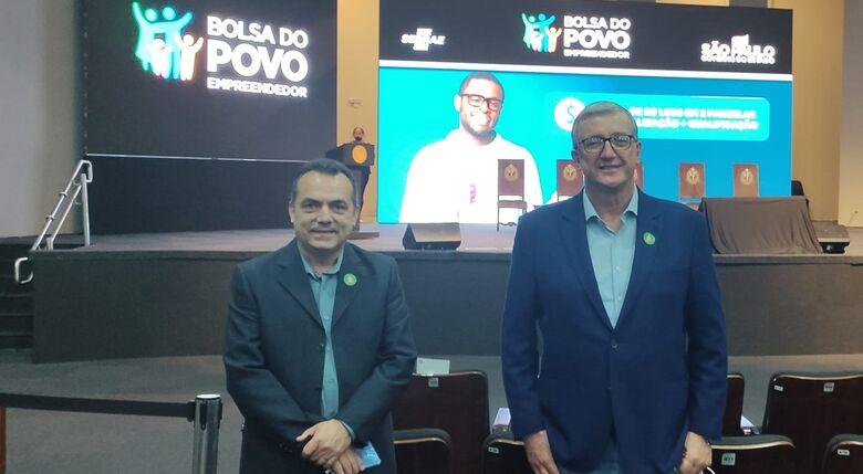 Antonio Ribeiro e Nino Mengatti durante o anúncio da nova parceria - Crédito: Divulgação