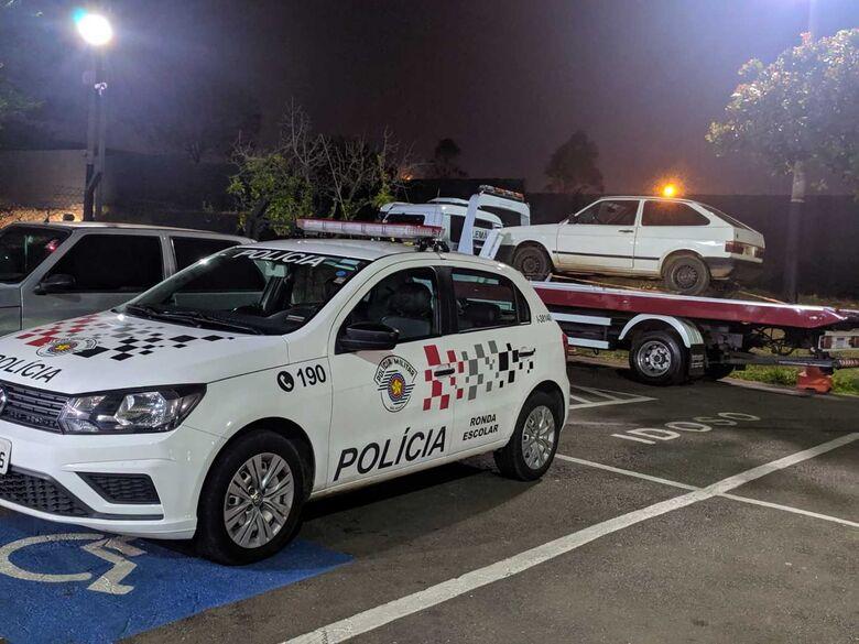 Gol em estacionamento estava com várias adulterações - Crédito: Maycon Maximino