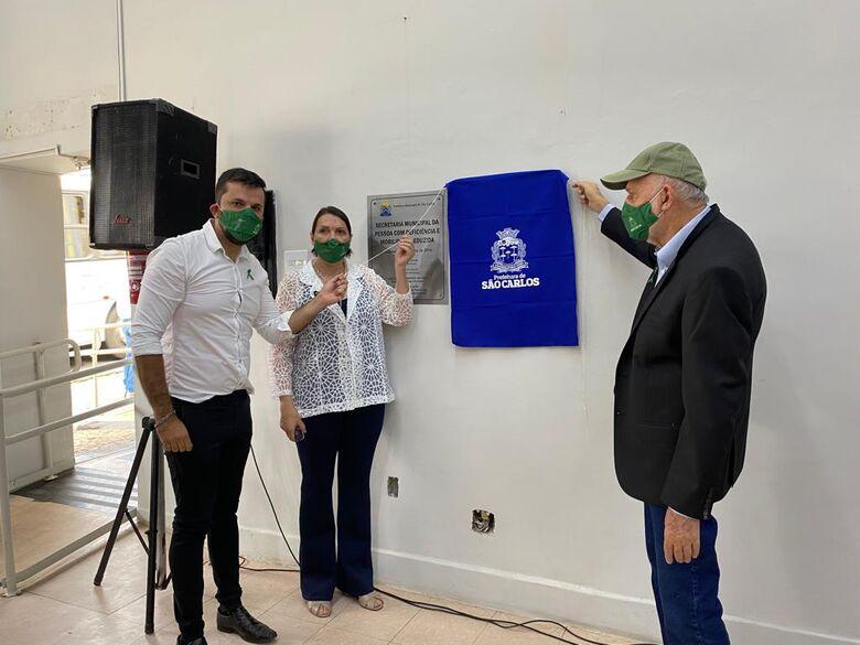 Vereador Rodson participa da inauguração da nova sede da Secretaria Municipal da Pessoa com Deficiência e Mobilidade Reduzida - Crédito: divulgação