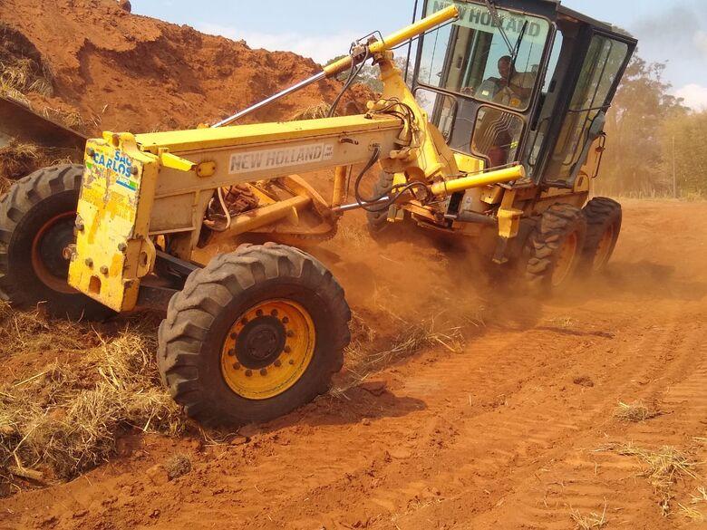 A recuperação das estradas rurais foi retomada no início do ano - Crédito: Divulgação
