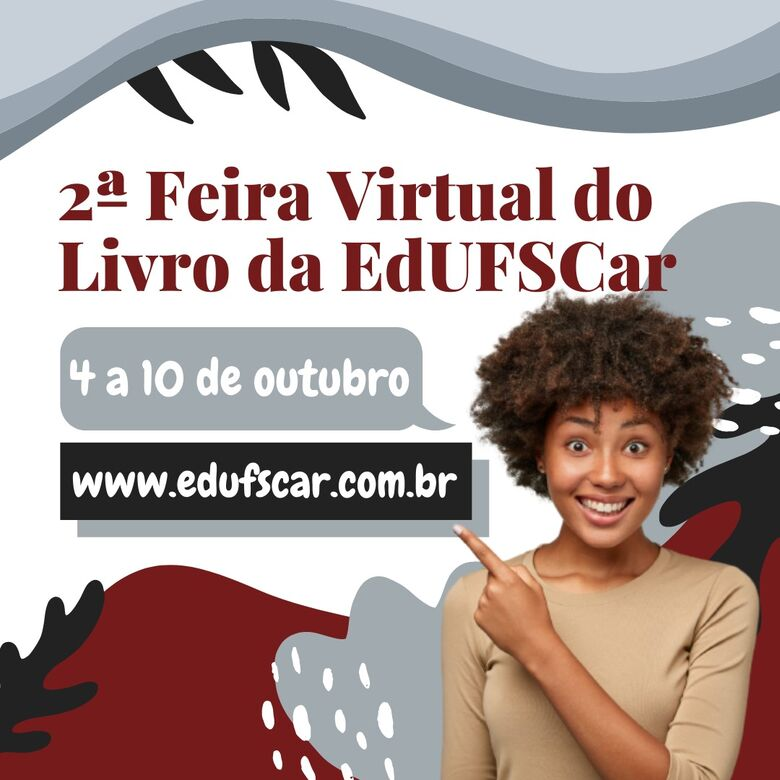 2ª Feira Virtual do Livro da UFSCar contará com programação cultural - Crédito: Divulgação