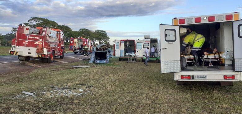 Local onde ocorreu o acidente. - Crédito: Maycon Maximino