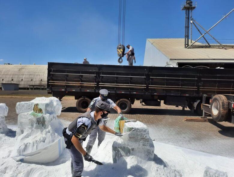Polícia Rodoviária apreende 4 toneladas de maconha que seriam entregues em São Carlos - Crédito: divulgação/Polícia Rodoviária