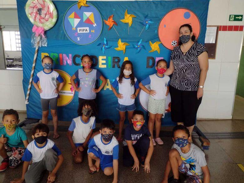 Escola fez atividades especiais para comemorar o Dia da Criança - Crédito: Divulgação