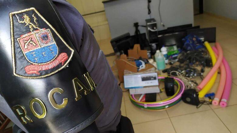 No destaque, a Rocam, responsável por deter dupla de ladrões que furtaram ONG - Crédito: Maycon Maximino
