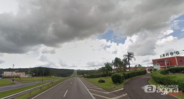 Km 224 da rodovia Washington Luis, onde aconteceu o acidente. (foto Google Maps) -