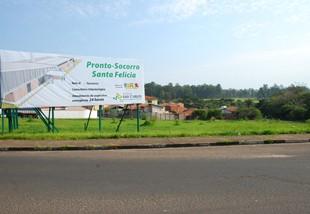 A Prefeitura já realizou as obras de terraplenagem na área que vai abrigar a nova Unidade de Pronto Atendimento -