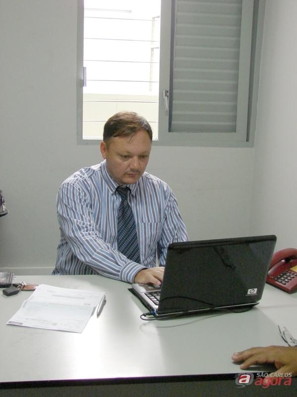 Doutor Renato de Almeida Caldeira do departamento jurídico do Sindspam é quem está acompanhando os aposentados e pensionistas que entraram com a ação -