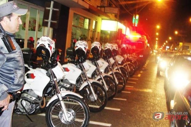 Policiais da ROCAM fizeram operação na avenida São Carlos (foto: arquivo) -